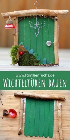 DIY: b Make magic, enchanted pixies door - Bastelarbeiten - Basteln Porta Diy, Elf Door, Diy Y Manualidades, Deco Nature, Fairy Doors, Diy Fairy Door, Wine Bottle Crafts, Pixies, Diy And Crafts