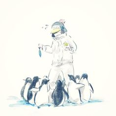 One Piece, Penguin awww. Penguin giving food to the penguins One Piece Comic, One Piece Fanart, One Piece Anime, One Piece Zeichnung, One Piece Drawing, One Piece Images, Trafalgar Law, Marvel Funny, Manga Comics