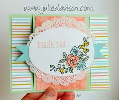 Julie's Stamping Spot -- Stampin' Up! Project Ideas Posted Daily: VIDEO Tutorial: How to Make an Easel Card