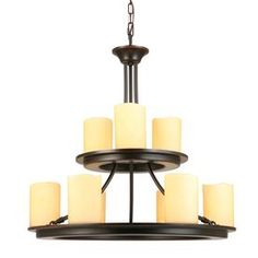 Shop Allen Roth Harpwell 6 Light Oil Rubbed Bronze Chandelier At Lowes Com Bronze Chandelier