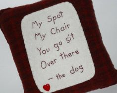 Dog Bed Pillow - Novelty Pet Throw Pillow - I'm Sittin' Here - Dog Bed Accessory - Funny Dog Sayings