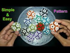How To Make Beaded Ball | Simple And Easy Pattern | Beads Ball | Soccer Ball | Beads Craft Ideas - YouTube