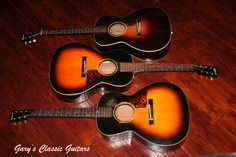 Trio of Gibson L-00's