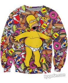 e2565b5ebe3a7a Homer J Simpson Crewneck Sweatshirt  Ready to Ship  - RageOn! - The World s  Largest All-Over-Print Online Store
