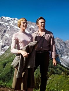 The Sound Of Music 1965 - Behind the scenes of Julie Andrews (Maria) and Christopher Plummer (Captain Von Trapp) whilst shooting in Salzburg, Austria (1964) - Vanity Fair 2015