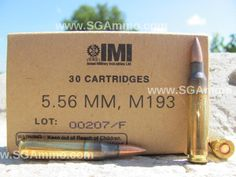30 Round Box - 5.56mm 55 Grain FMJ M193 IMI Ammo Made by Israel Military Industries Mfg 2015 | SGAmmo.com