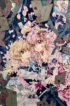The process of arina tanemura coloring! Waiting so long for this! Art Manga, Manga Artist, Manga Anime, Anime Art, Manga Love, Manga Girl, Manga Couples, Shinshi Doumei Cross, Art Kawaii