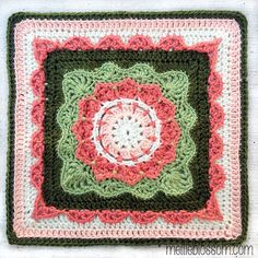 ... the first month's crochet along squares are done, I'm all gung-ho to start on the next month's. If you're interested in joining in the crochet along,