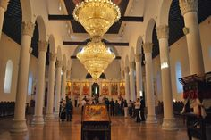 The interior of the church Holy Mother of God in Skopje