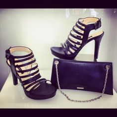 Albano shoes and Bags in Black Calf ! It's so cool!