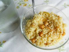 Rosemary couscous with roasted chickpeas recipe