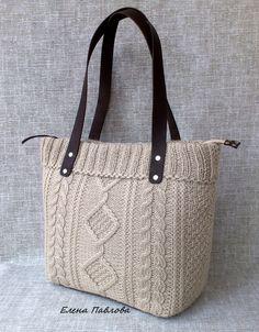 Вязаная сумка  - тоут/ экрю – купить или заказать в интернет-магазине на Ярмарке Мастеров | Сумка продана.<br />  Повтор возможен в следующем…