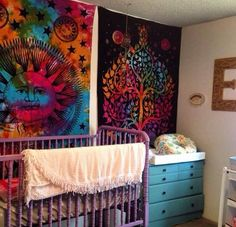Hippie baby room✌️ Source by ronjaschimanski baby nursery Hippie Mom, Hippie Kids, Hippie Baby, Hippie Nursery, Girl Nursery, Hippy Room, Nursery Room Decor, Nursery Ideas, Baby Planning