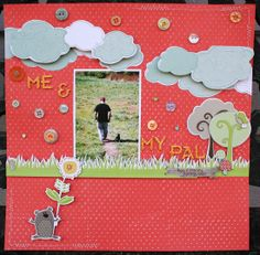 Me and My pal.  Open space and machine stitching on the clouds and perimeter