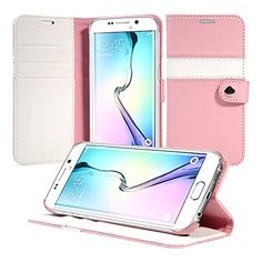 awesome Galaxy S6 Edge Case, ACEABOVE [Kickstand Feature] Samsung Galaxy S6 Edge Wallet Case [Ultra Slim][Pink] Premium PU Leather Flip Cover - Verizon, AT&T, Sprint, T-Mobile, International, and Unlocked - Flip Case for Samsung Galaxy S6 Edge Early 2015 Model Check more at…