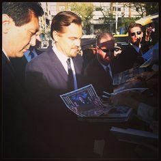 Gatsby? What Gatsby? #LeonardoDiCaprio arriving at the #GatsbyPremiere