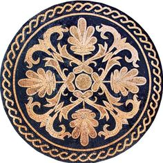 Marble Mosaic Medallion Tile (maybe print onto computer fabric for round rug) Pebble Mosaic, Stone Mosaic, Mosaic Art, Mosaic Tiles, Mosaic Designs, Mosaic Patterns, Mosaic Flowers, Mosaic Projects, Celtic Art