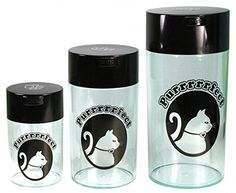 Pawvacs Set of 3 ( 6, 12, 24 Ounce ) Vacuum Sealed Pet Food Storage Containers