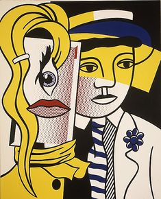 Stepping Out by Roy Lichtenstein, 1978, oil and magna on canvas. The Metropolitan Museum of Art.