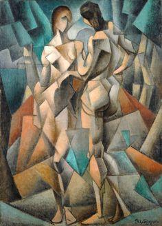 Jean Metzinger, 1910-11, Deux Nus (Two Nudes, Two Women), oil on canvas, 92 x 66 cm, Gothenburg Museum of Art, Sweden - Jean Metzinger - Wikipedia, the free encyclopedia