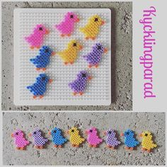 Easter chicks hama beads by myhappycreativethoughts
