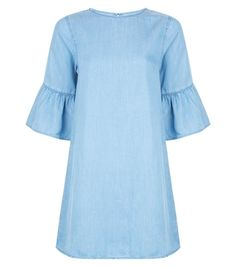 Discover the latest trends at New Look. Bell Sleeves, Bell Sleeve Top, New Dress, Blue Denim, New Look, Latest Trends, Tunic, Shopping, Tops