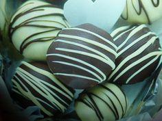 Cioccolatini cioccolato fondente e bianco