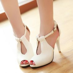 Sexy Peep-Toe Hollow Out Stiletto Heels Women's Sandals