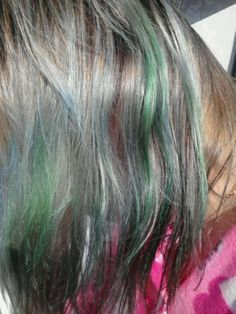 My fading green, teal with purple underneath