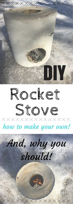 How to make your own rocket stove and why you should!