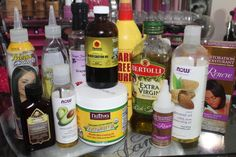 How To Grow Long Healthy Relaxed Hair Fast With Natural Oils Coconut Oil Jamaican Black Castor Oil via @blackhairinfo