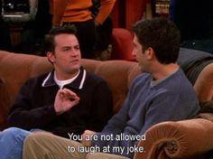 Chandler and Ross' joke