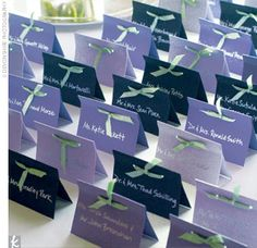 DIY Escort Card ideas