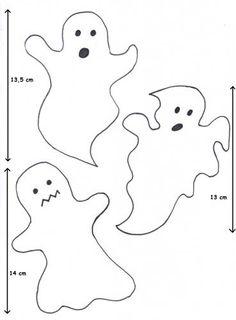 Výtvarné náměty Halloween Quilts, Halloween Crafts For Kids, Halloween Party Decor, Halloween Cards, Fall Crafts, Fall Halloween, Happy Halloween, Ghost Template, Ghost Crafts
