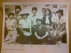 Unofficial Record newsroom portrait ( June 1982): Jane Zajec, Rick Chase, Anne Phillips, Tom Davidson, Rae Riebe, BT Huntley, Donna _____