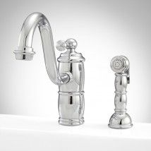 Larsen Single Hole Kitchen Faucet with Handspray