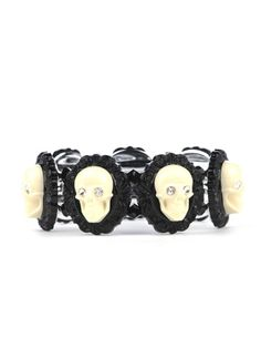 Lucite Skull Frame Stretch Bracelet By Tarina Tarantino