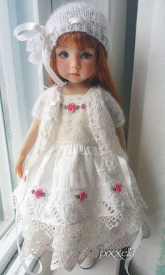 """Roses & Lace for Little Darling Effner 13"""" by pixxell 