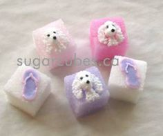 Monogram and other possible Custom Decorated Sugar Cube Styles