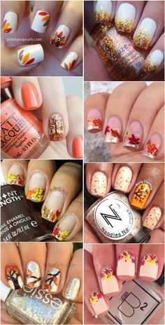 fall-nail-ideas-Thanksgiving-nail-art-desgins.jpg (600×1184)
