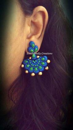 Terracotta Earrings Fancy Jewellery, Funky Jewelry, Handmade Jewelry, Polymer Clay Art, Polymer Clay Jewelry, Ceramic Jewelry, Antique Jewelry, Biscuit, Teracotta Jewellery