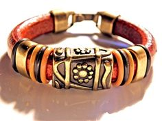 Leather Bracelet, Regaliz Greek licorice leather, 6.75"