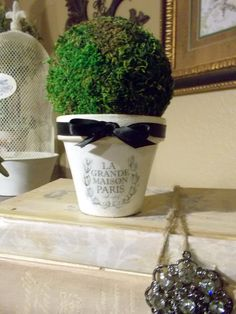 Topiary Tree French Inspired Home Decor Favor by DevineImagination, $9.50