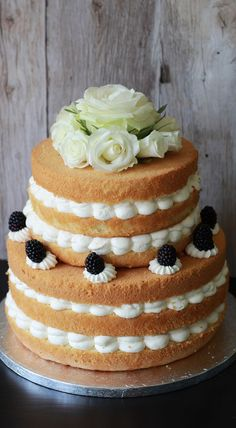 Waldbeer Mascarpone Torte | Forest Berries Cake | Goldene Hochzeit | Golden Wedding |Naked Cake