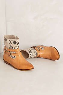 Anthropologie - James Embroidered Booties