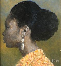 The silver earring by Brian Denington  #briandenington #contemporaryart #artgallery  Copyright remains with the artist.