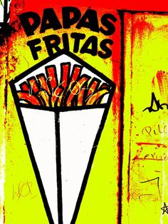 French Fries Santiago Style  Photograph  - French Fries Santiago Style  Fine Art Print