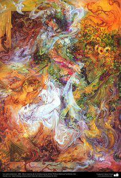 Las cuatro estaciones. 1989 , Obras maestras de la miniatura persa; Artista Profesor Mahmud Farshchian, Irán | Galería de Arte Islámico y Fotografía