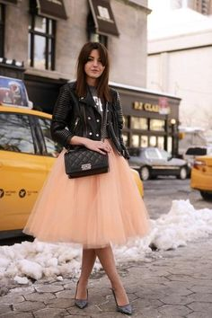 Tulle Skirt - Peach TULLE SKIRT (volume)