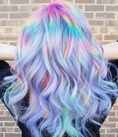 Beautiful dream hair - lavender, pastels and rainbows! Hair Dye Colors, Cool Hair Color, Unicorn Hair Color, Opal Hair, Rainbow Hair, Neon Rainbow, Lavender Hair, Aesthetic Hair, Colour Pop